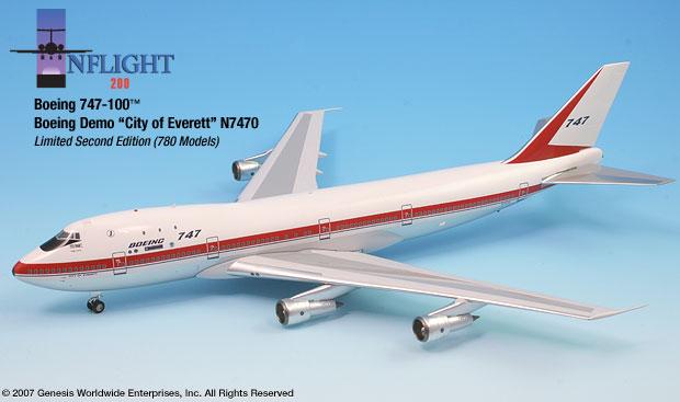 Boeing City Everett N7470 747-100 1:200
