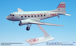 TWA Victory is in the Air DC-3 1:100