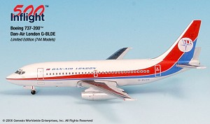 Dan Air London G-BLDE 737-200 1:500