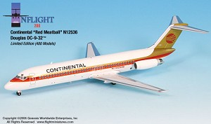 Continental Red Meatball  DC-9-32 1:200