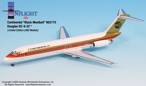 Continental Black Meatball DC-9-32 1:200