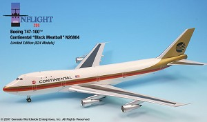Continental Black Meatball 747-100 1:200