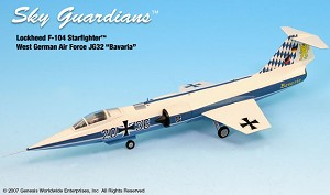F-104 West German AF JG 32 Bavaria 1:72