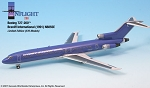 Braniff Ultra Purple/Silv  727-200 1:200